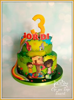 Zack & Quack Birthday Cake