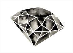 Large Diamond Painting Watercolor Diamond Painting por GeometricInk