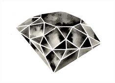 Geometric Diamond - Original Watercolor
