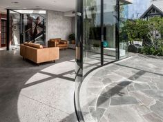 Endicott® Stone Pavers: Crazy Paving & Flooring by Eco Outdoor Outdoor Paving, Outdoor Areas, Grey Houses, Box Houses, Grey Pavers, Crazy Paving, Exterior Tiles, Paving Pattern, Driveway Paving