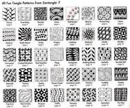 easy zentangle patterns for beginners step by step - Google Search