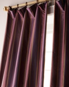 """""""Diplomat"""" Striped Curtains by Softline Home Fashions at Horchow. Striped Curtains, Window Dressings, Man Cave, House Styles, Home Decor, Fashion, Moda, Decoration Home, Room Decor"""