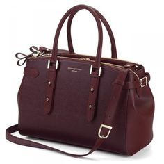 Authorised Stockist Of The Aspinal London Burgundy Brook Street Bag Handbags Available With Free Uk Next Day Delivery