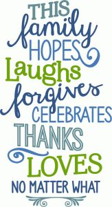 Silhouette Design Store - View Design #76492: this family hopes laughs, etc - phrase