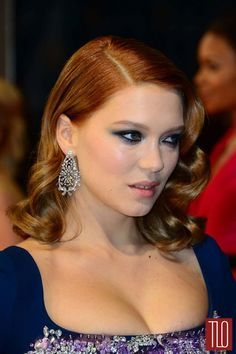 Be Me or Do Me: Léa Seydoux Style Double Shot | Tom & Lorenzo Fabulous & Opinionated/ love the eye make-up