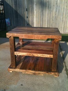 Wood Pallet Projects | Wood pallet island | Brad Projects