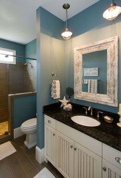 walden 9 - beach style - bathroom - wilmington - plantation building corp (half wall, colors)