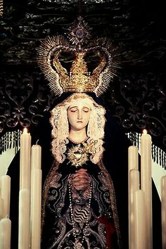 A statue of Our Lady of Sorrows in Granada, Spain.