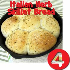 Try Rhodes Best of 2013 recipes! Italian Herb Skillet Bread. This will go with anything, Salad, Soup, Spaghetti.
