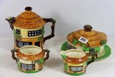 4pc Beswick cottage ware tea set