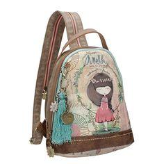Anekke Nature Σακίδιο πλάτης Fabric Manipulation, Quilted Bag, Cute Illustration, Ceramic Art, Mini Bag, Fashion Backpack, Character Design, Backpacks, Handbags