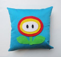 Geekery Pillow Cover: Super Mario inspired cushion cover on Etsy, $32.00 CAD