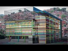 Design studio Urban-Think Tank has built a 4,000-square-meter prefab vertical gym in a slum of Caracas, Venezuela