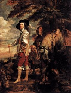 """Charles I, King of England, at the Hunt"" by Sir Anthony van Dyck (Musée du Louvre, Paris)."