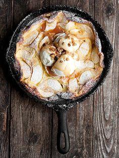 Caramel Apple Dutch Baby ... dessert with ice cream or decadent breakfast treat with vanilla yogurt or creme fraiche!