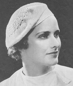 Vintage 1930's  Crochet Beret Hat Pattern    2 by indiesommer2, $4.99 #crochet #berethat