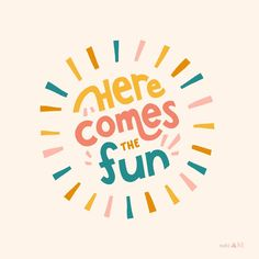 Mar 2020 - A nice big sun because it's finally stopped raining, and a whole lot of fun because it's FRIDAY! Typography Inspiration, Logo Design Inspiration, Logo Dulce, Happy Words, Typography Letters, Lettering Art, Typography Prints, Photo Wall Collage, Brainstorm