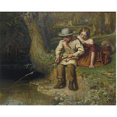 Oil painting - Another Bite ca. 1850. George Smith (1829-1901) entered the Royal Academy in 1845 and worked in the studio of the genre and narrative painter Charles West Cope. Smith himself focused mainly on genre painting, often involving children as seen in this example of his work exhibited at the Royal Academy in 1850. Throughout his career he exhibited 79 works at the Royal Academy, 26 at the British Institute and 15 at the Society of British Artists.
