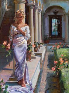 Daniel F. Gerhartz is known for his romantic, touching oil paintings of people, art for the home, romantic paintings, original art and original oil paintings. Romantic Paintings, Beautiful Paintings, Painting People, Woman Painting, Painting Art, Painting Classes, Painting Lessons, Painting Tips, Contemporary Artists