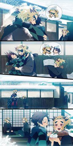 Kimetsu No Yaiba Doujinshi - Tuyết - Wattpad Otaku Anime, Anime Naruto, Manga Anime, Fanarts Anime, Anime Characters, Noche Halloween, Cute Drawlings, Anime Faces Expressions, Familia Anime