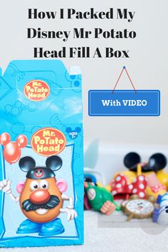 How to pack a Mr. Potato Head Fill A Bo@ Downtown Disney
