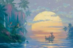 Hook Discovered, Original animation art giclee on canvas of Peter Pan from Disney Studios. This page links to our main page which has over 5000 pieces of animation art from Disney, Simpsons, Warner, etc. Peter Pan Disney, Arte Disney, Disney Magic, Disney Fairies, Peter Pan Art, Peter Pan Painting, Peter And Wendy, Disney Fine Art, Pinturas Disney
