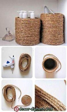 Rope Crafts, Diy Home Crafts, Crafts To Sell, Stick Crafts, Beach Crafts, Upcycled Crafts, Diy Para A Casa, Diy Casa, Diy Furniture Decor
