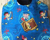 Bib for Baby or Toddler Jake and the Neverland Pirates Handmade