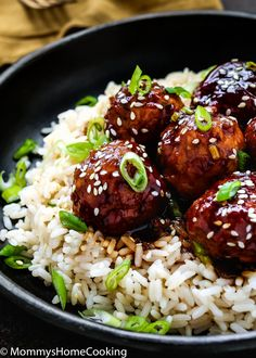 These 20- Minute Instant Pot Teriyaki Turkey Meatballs are perfect when you want a fast, family-friendly meal in a jiffy. These are crazy good and so easy. Serve over your favorite bowl of rice, quinoa, or steamed veggies. http://mommyshomecooking.com