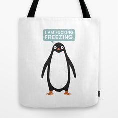 Talking #Penguin Tote Bag