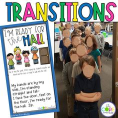 Classroom TRANSITIONS are routines that are used regularly as a way to smoothly shift students from one activity to another in an effort to save valuable instructional time. Efficient transitions are an important part of quality classroom management and can positively influence your classroom culture.  These 20 transitions are categorized into four of types:  •Entering the classroom •Starting an activity •Changing activities •Exiting the classroom