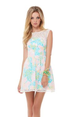 Lilly Pulitzer- MORRISON LACE OVERLAY DRESS