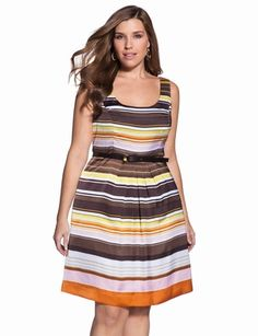 Horizontal strips are not flattering on me but I this dress is super cute  Shop The Collection - Plus Size Collection For Women