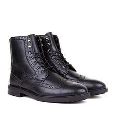 Black Stitched Boot