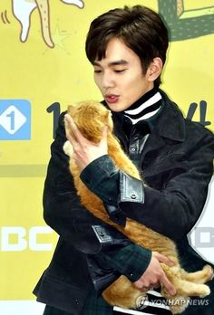 Yoo Seung-ho and cat co-star at press conference for Imaginary Cat » Dramabeans Korean drama recaps