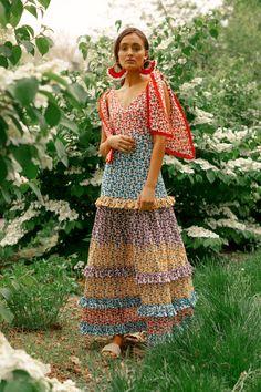 Fabiana Dress Multi – All Things Mochi Queer Fashion, Fashion News, High Fashion, Fashion Beauty, Fashion Outfits, Womens Fashion, Celebrities Fashion, 80s Fashion, Curvy Fashion