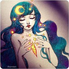 Risultati immagini per burning qinni Dc Anime, Anime Art, Illustrations, Illustration Art, Qinni, Erotic Art, Art Tutorials, Cool Drawings, Cute Art