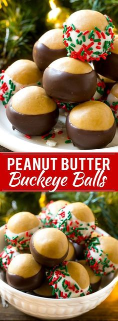 This recipe for buckeye balls is the classic peanut butter balls dipped in dark or white chocolate. A holiday treat that\'s both easy and energy efficient to make! #PGE4ME #ad