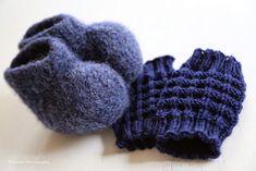 Pizzicato: Huovutetut vauvan tossut + ohje Baby Born, Baby Knitting Patterns, Knitted Hats, Baby Shoes, Sewing, Winter, Kids, Crafts, Winter Time