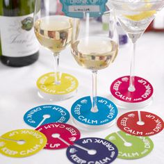 Drinks charms, so guests can remember who's drink is who!  From the Fuschia Boutique at www.fuschiadesigns.co.uk.