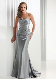 Mermaid Satin Strapless Long Formal Dresses Sydney Online