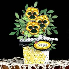Happy Pansies for Faith QFTD59 by AudreyAnn - Cards and Paper Crafts at Splitcoaststampers