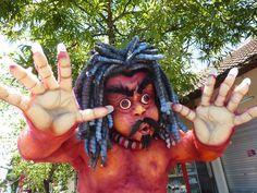 Ogoh-Ogoh Parade in Ubud on the eve of Nyepi day in Bali, Indonesia.