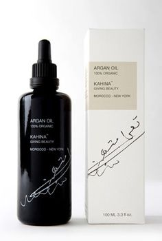 Kahina Giving Beauty Pure Organic Argan Oil. Great for skin and hair, and 25% of all profits are reserved for the Berber women who harvest and produce the oil.