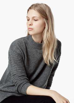 Camisola lã canelada