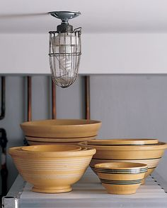 more yellowware mixing bowls