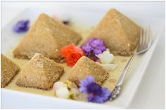 Ginger And Lemon Pyramid Cakes by Golubka, From Rawguru.com