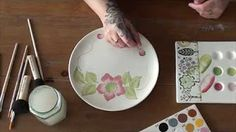 process of painting plates - YouTube
