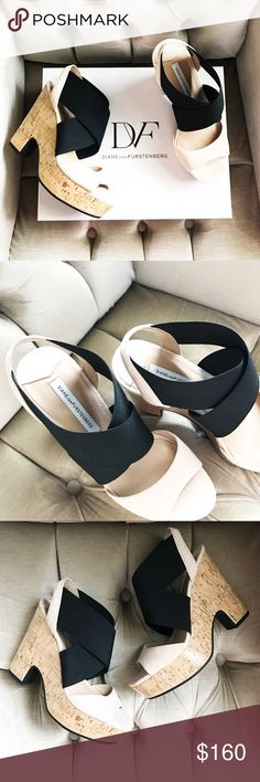 DVF Platform Sandal NIB Finish your look with the finesse and effortless  style of the Diane von Furstenberg™ Deetra sandals. Open toe, platform  sandals.