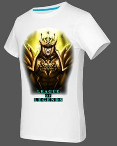 Jarvan Ⅳ short sleeve tshirt XXXL for boys game League of Legends-